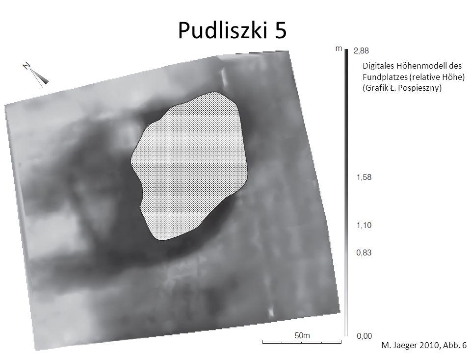 Pudliszki 5 Digitales Höhenmodell des Fundplatzes (relative Höhe)