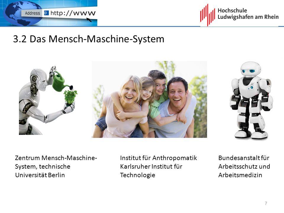 3.2 Das Mensch-Maschine-System