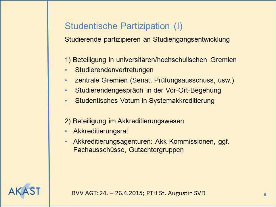 Studentische Partizipation (I)