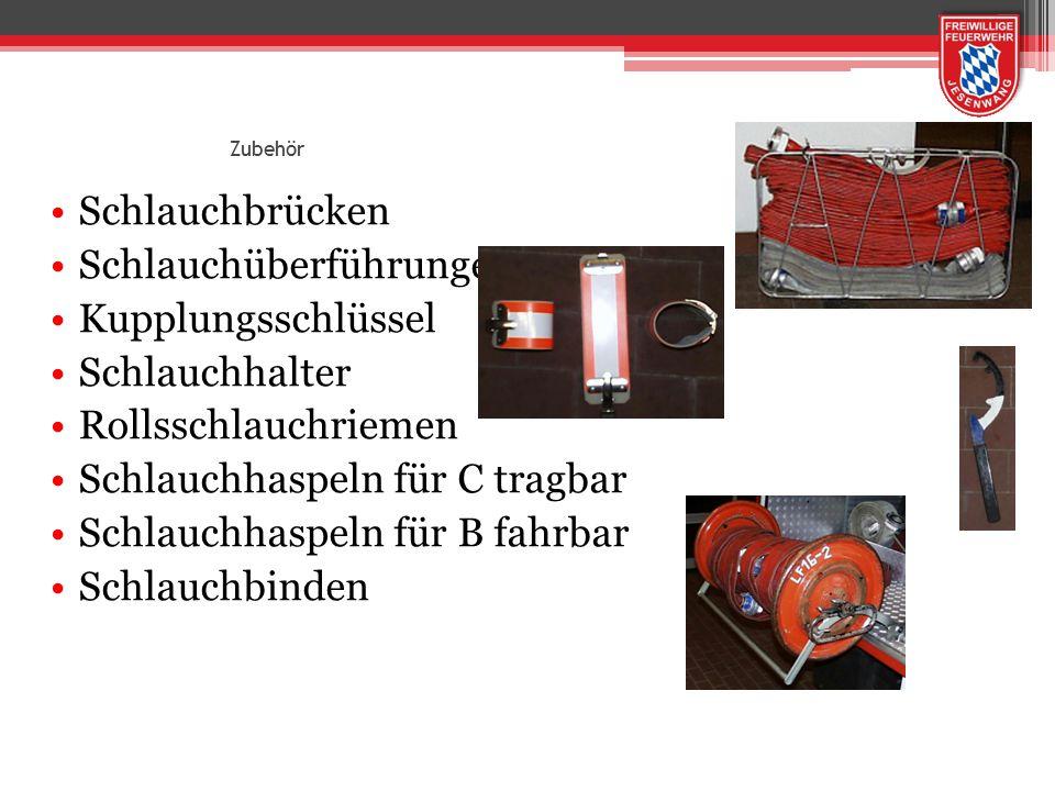 Schlauchüberführungen Kupplungsschlüssel Schlauchhalter