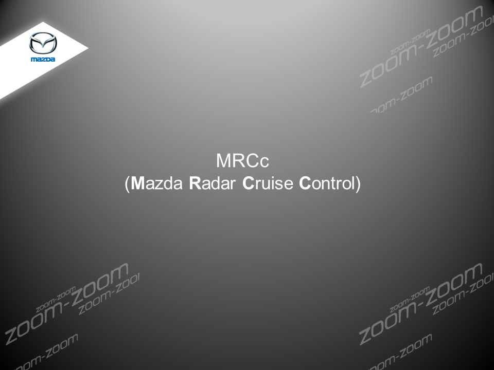 (Mazda Radar Cruise Control)