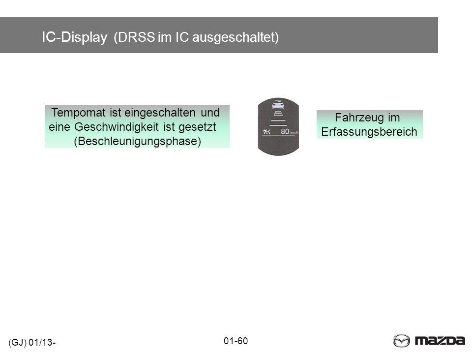 IC-Display (DRSS im IC ausgeschaltet)