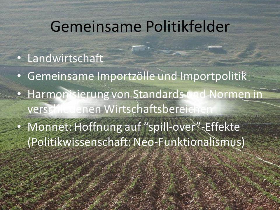 Gemeinsame Politikfelder