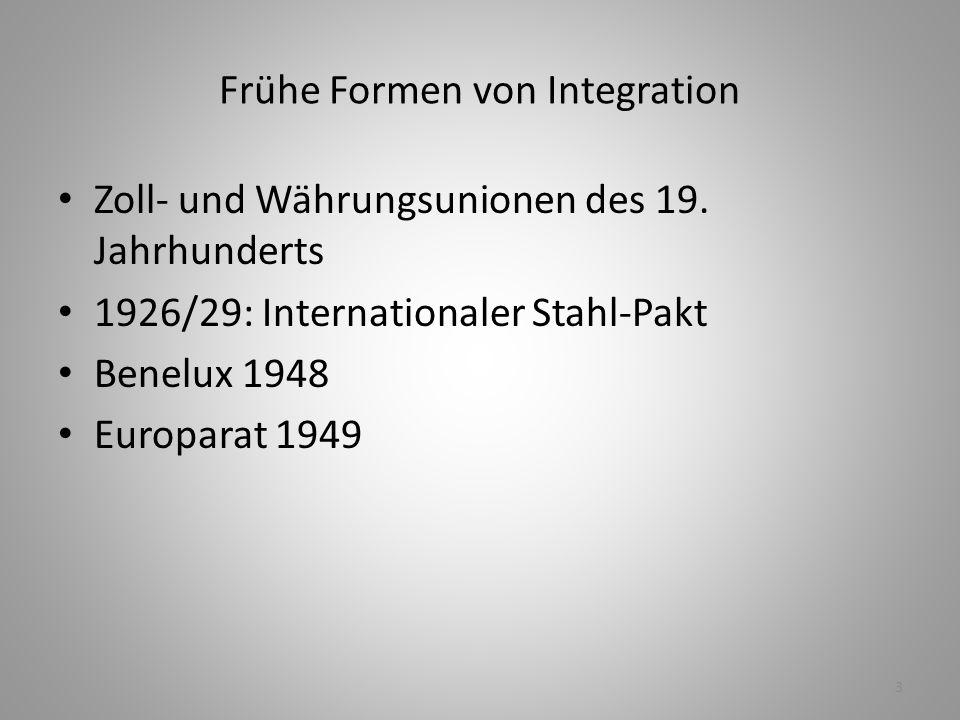 Frühe Formen von Integration