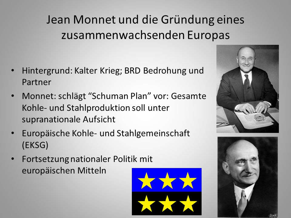 Jean Monnet und die Gründung eines zusammenwachsenden Europas