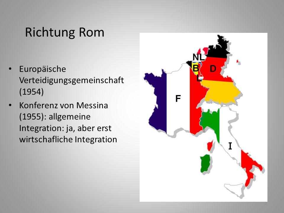 Richtung Rom Europäische Verteidigungsgemeinschaft (1954)