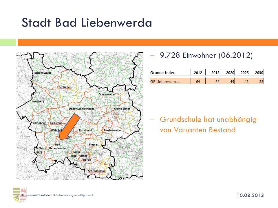 Stadt Bad Liebenwerda 9.728 Einwohner (06.2012)