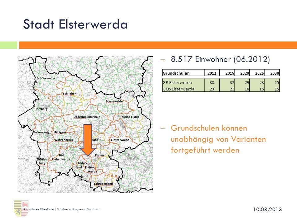 Stadt Elsterwerda 8.517 Einwohner (06.2012)