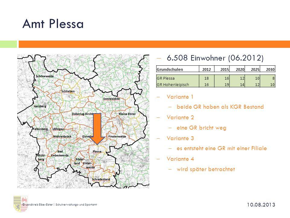 Amt Plessa 6.508 Einwohner (06.2012) Variante 1