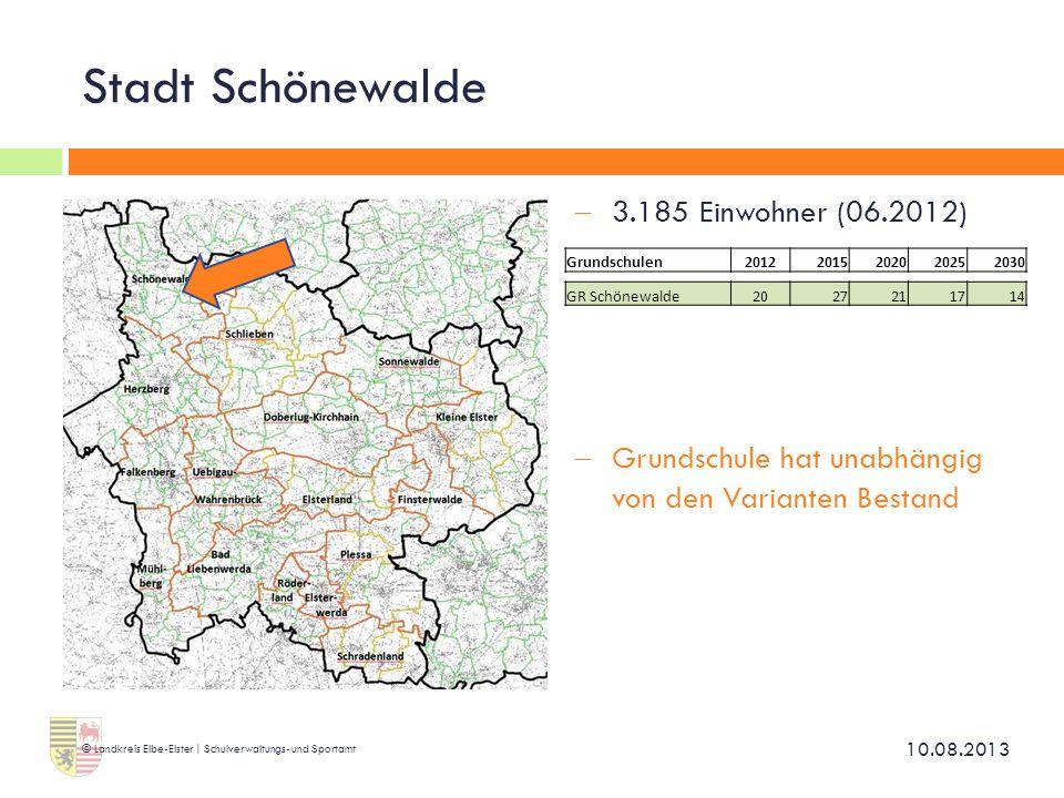 Stadt Schönewalde 3.185 Einwohner (06.2012)
