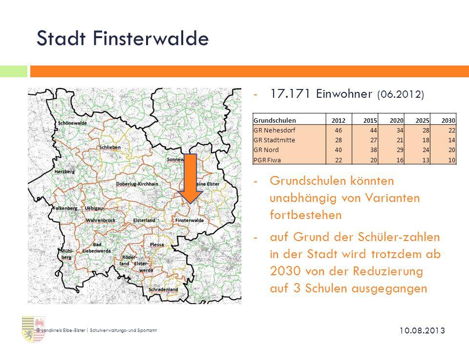 Stadt Finsterwalde 17.171 Einwohner (06.2012)