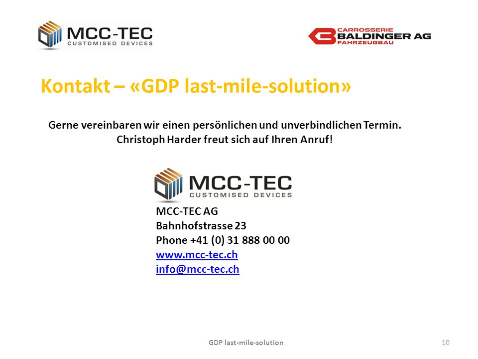 GDP last-mile-solution