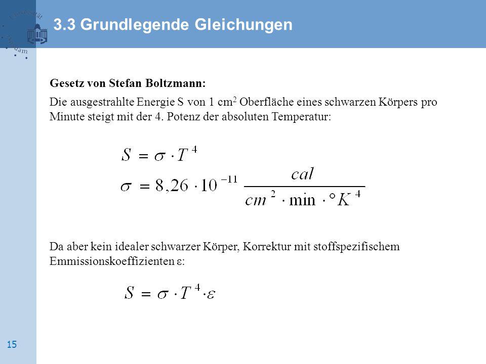 3.3 Grundlegende Gleichungen