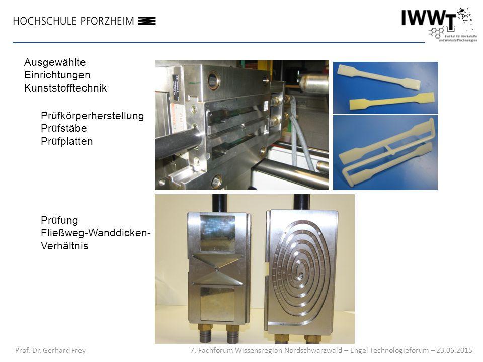 Ausgewählte Einrichtungen Kunststofftechnik