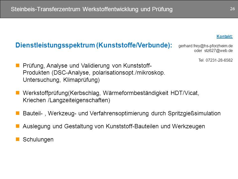 Steinbeis-Transferzentrum Werkstoffentwicklung und Prüfung