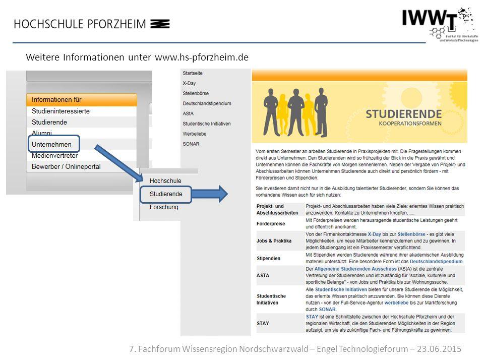 Weitere Informationen unter www.hs-pforzheim.de