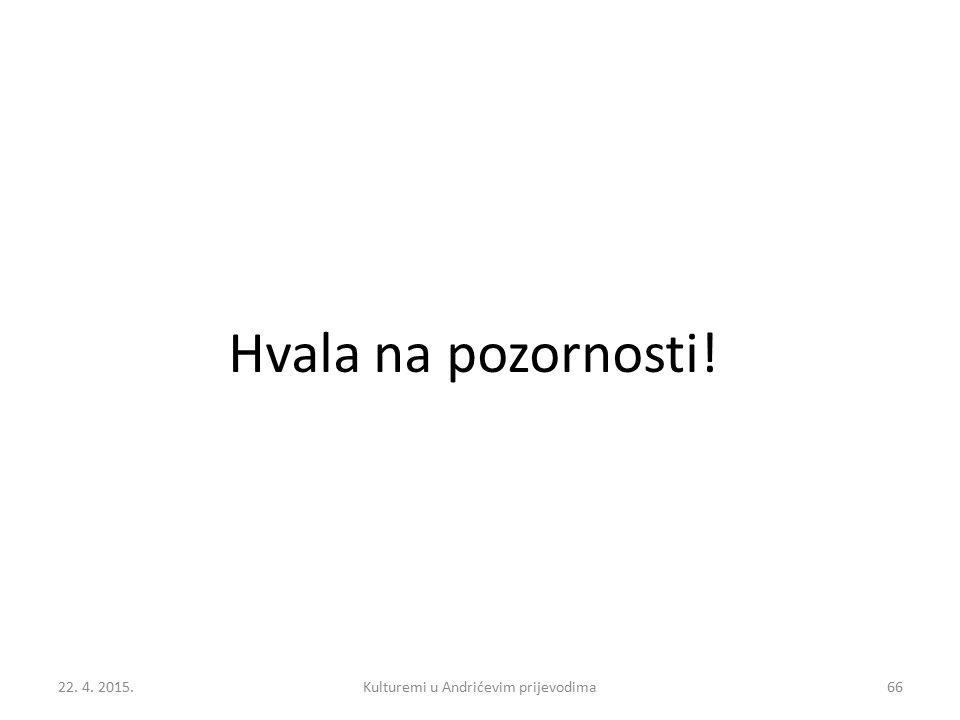 Kulturemi u Andrićevim prijevodima