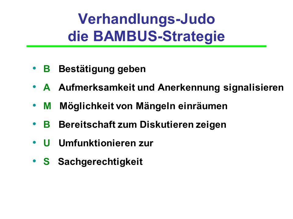 Verhandlungs-Judo die BAMBUS-Strategie