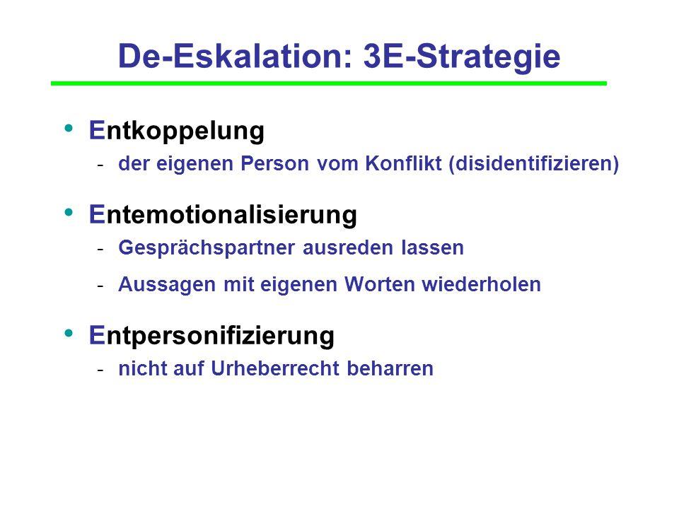 De-Eskalation: 3E-Strategie