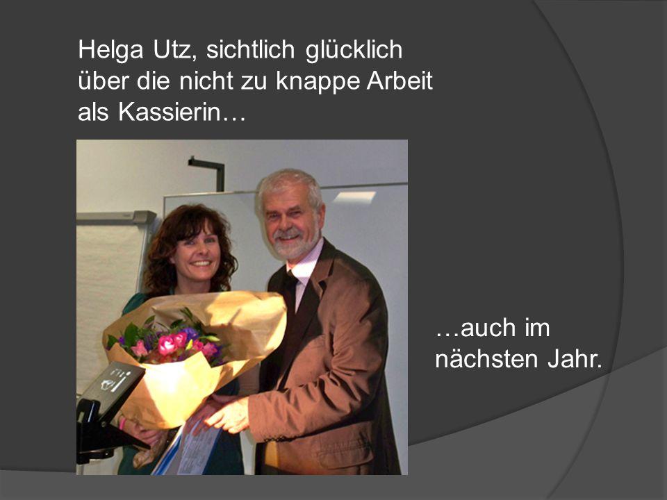 Helga Utz, sichtlich glücklich