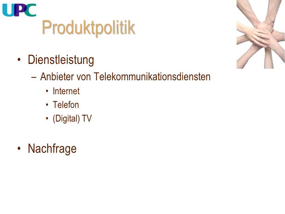 Produktpolitik Dienstleistung Nachfrage