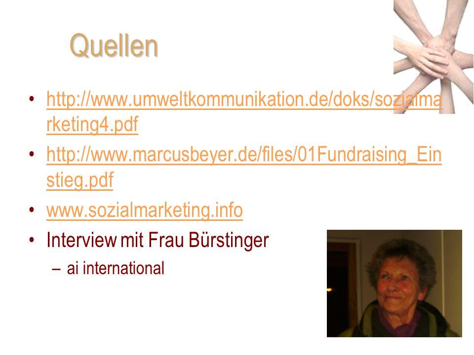Quellen http://www.umweltkommunikation.de/doks/sozialmarketing4.pdf