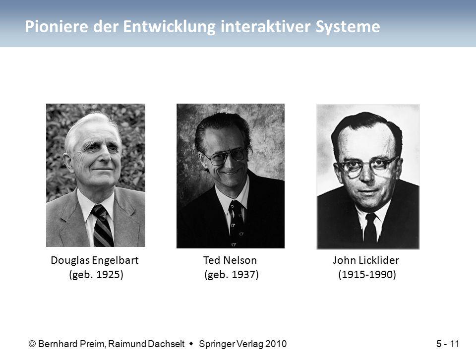 Pioniere der Entwicklung interaktiver Systeme