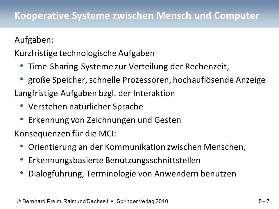 Kooperative Systeme zwischen Mensch und Computer