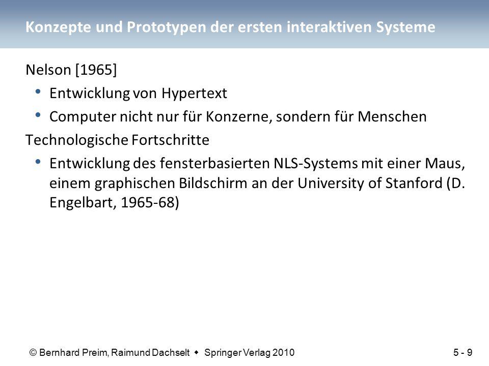 Konzepte und Prototypen der ersten interaktiven Systeme