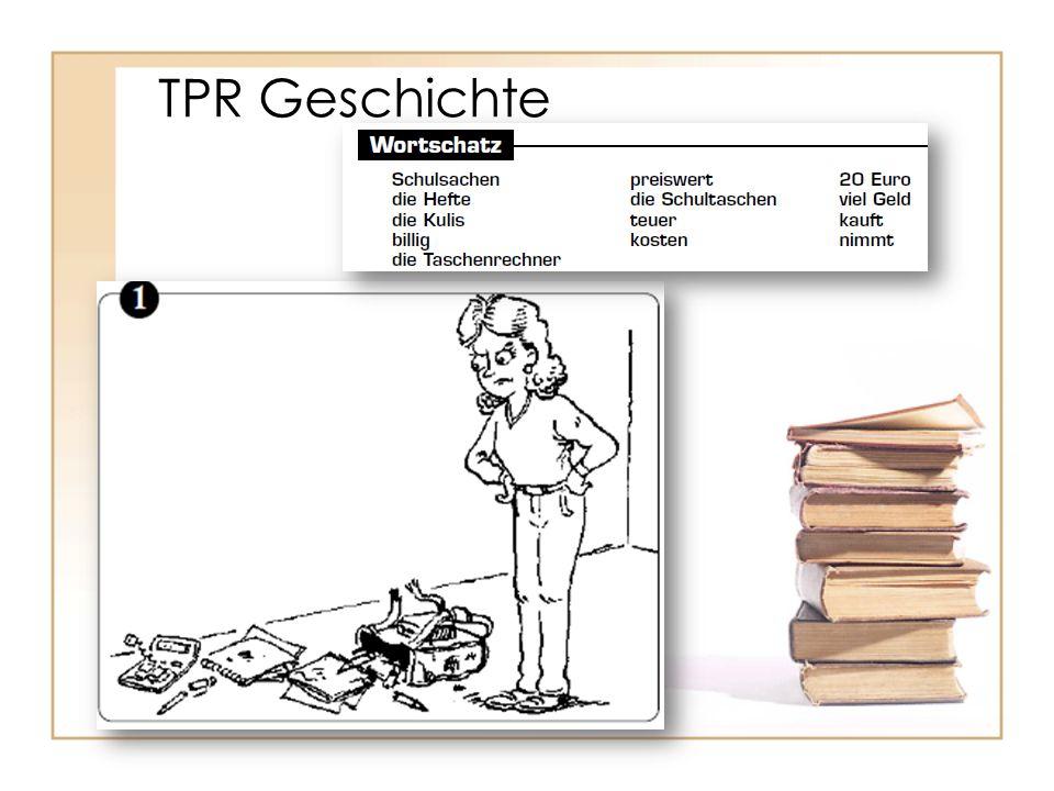 TPR Geschichte Ingrids Schulsachen sind hässlich und alt, und sie möchte neue.
