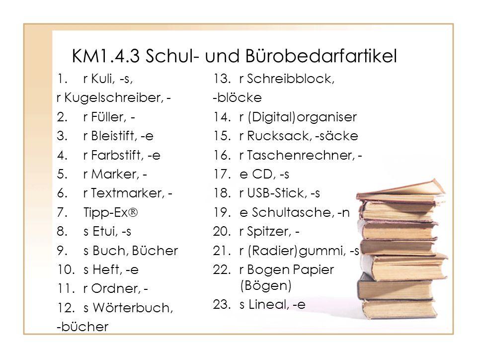 KM1.4.3 Schul- und Bürobedarfartikel