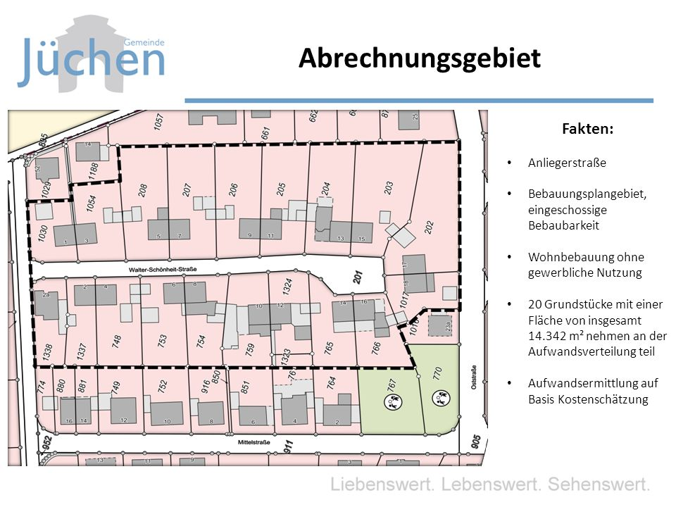 Abrechnungsgebiet Fakten: Anliegerstraße