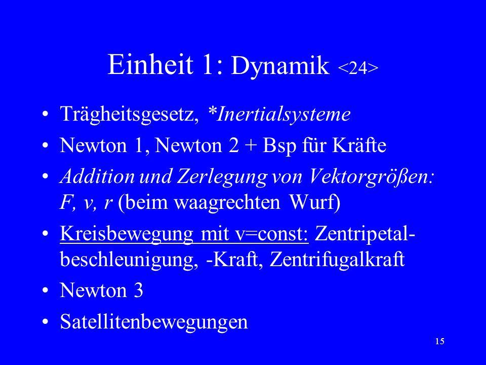 Einheit 1: Dynamik <24>