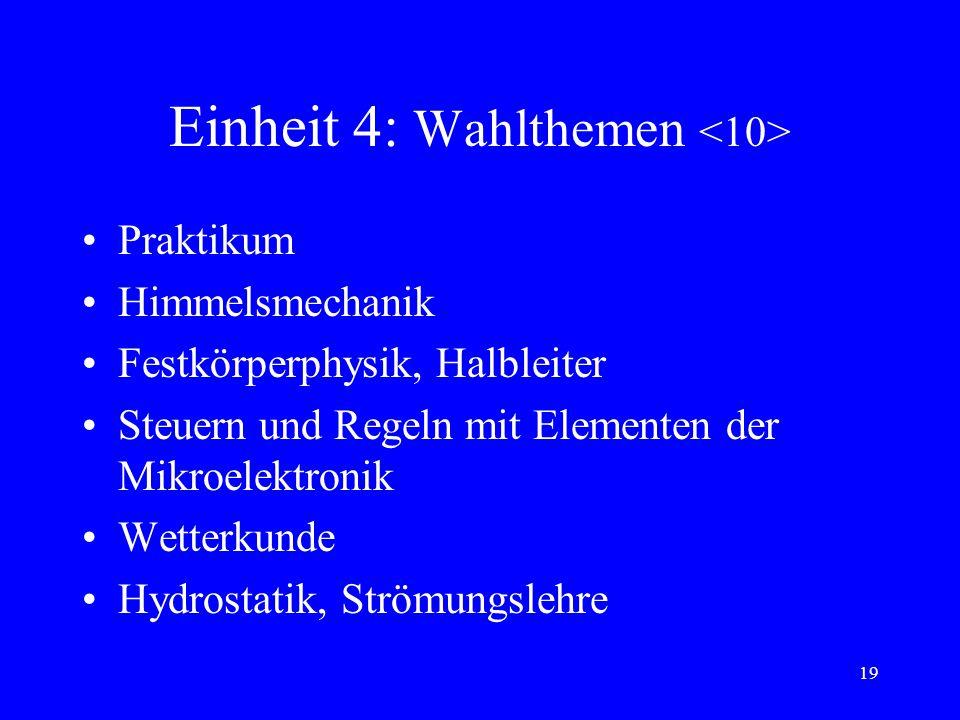 Einheit 4: Wahlthemen <10>