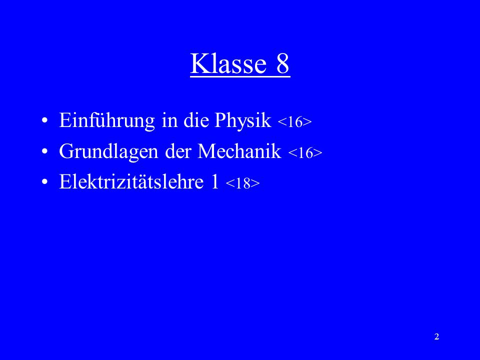Klasse 8 Einführung in die Physik <16>