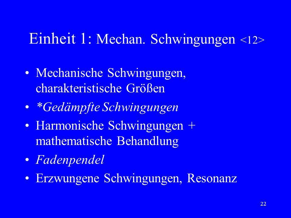 Einheit 1: Mechan. Schwingungen <12>
