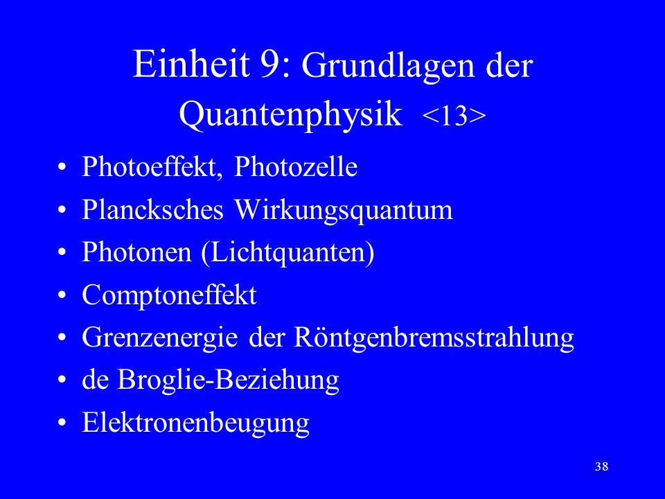 Einheit 9: Grundlagen der Quantenphysik <13>