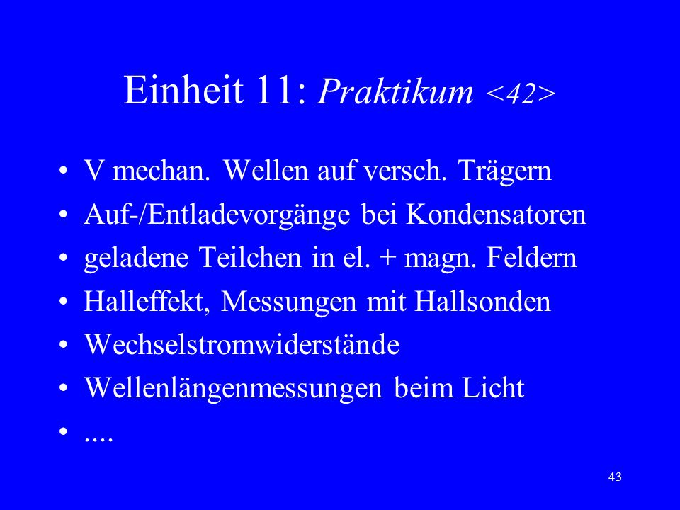 Einheit 11: Praktikum <42>