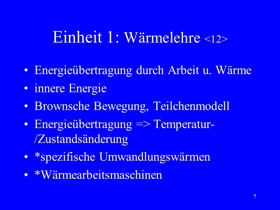 Einheit 1: Wärmelehre <12>