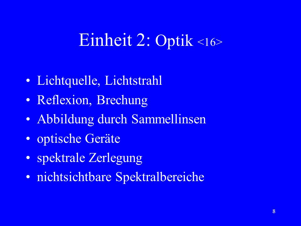 Einheit 2: Optik <16>