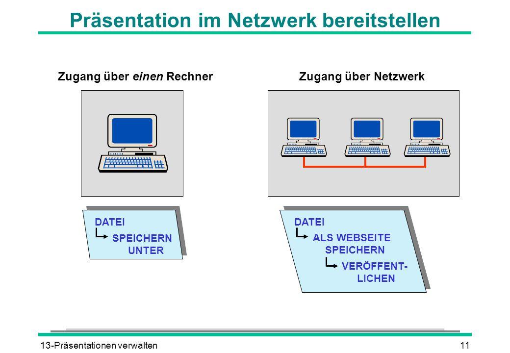 Präsentation im Netzwerk bereitstellen