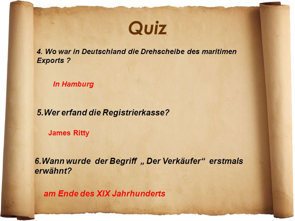 Quiz 5.Wer erfand die Registrierkasse