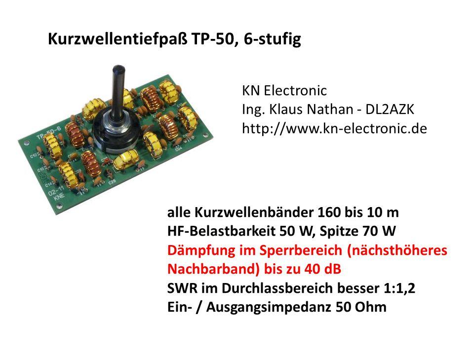 Kurzwellentiefpaß TP-50, 6-stufig