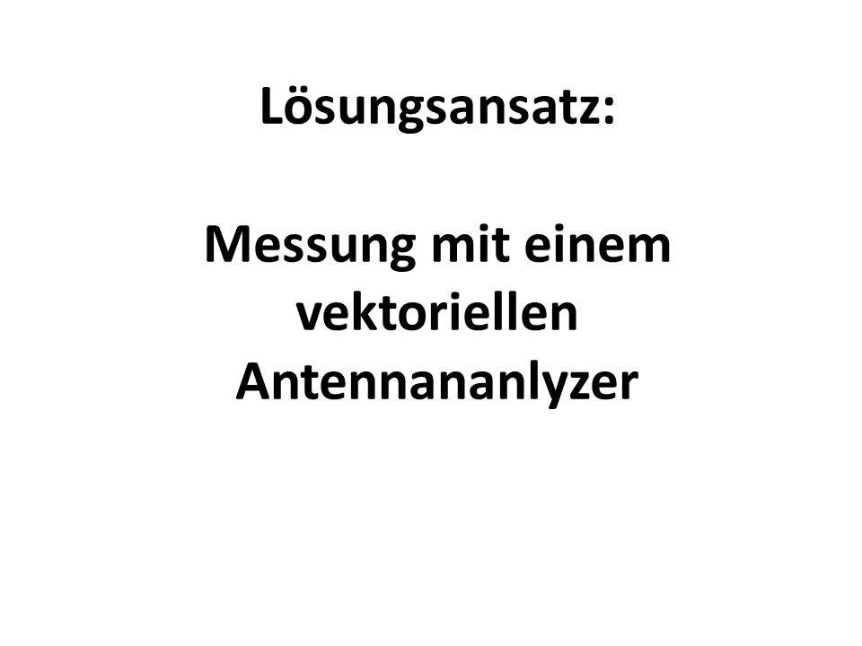 Messung mit einem vektoriellen Antennananlyzer