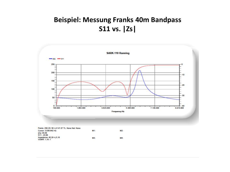 Beispiel: Messung Franks 40m Bandpass