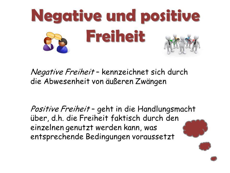 Negative und positive Freiheit
