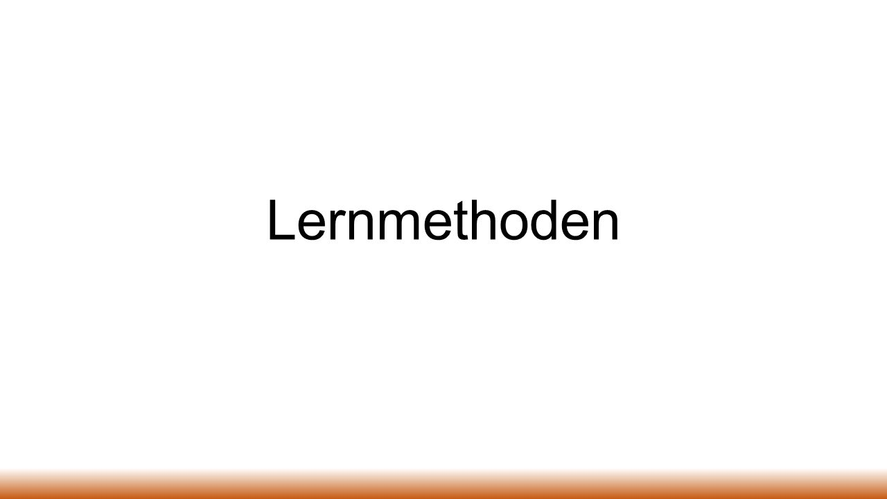 Lernmethoden