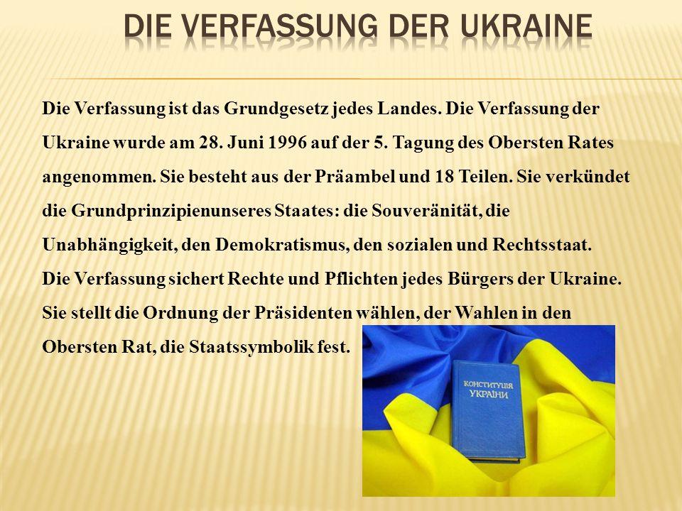 Die Verfassung der Ukraine