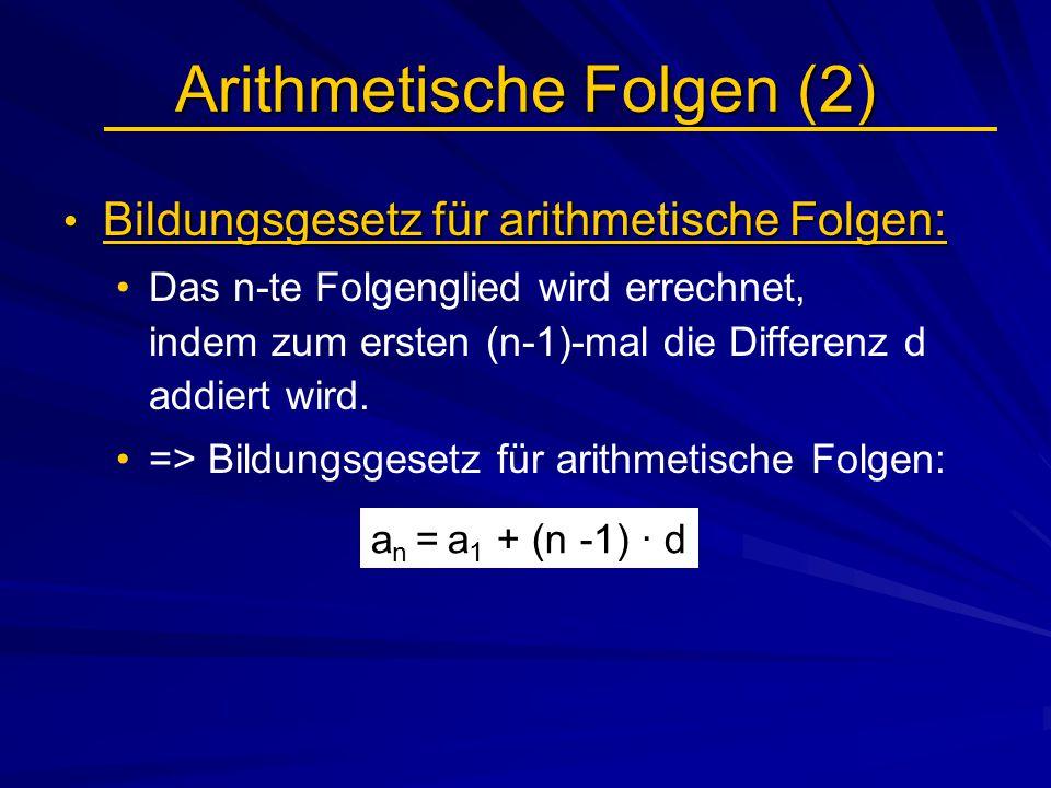 Arithmetische Folgen (2)