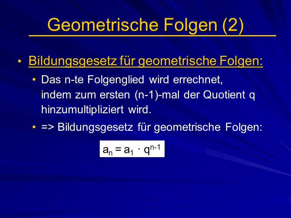 Geometrische Folgen (2)